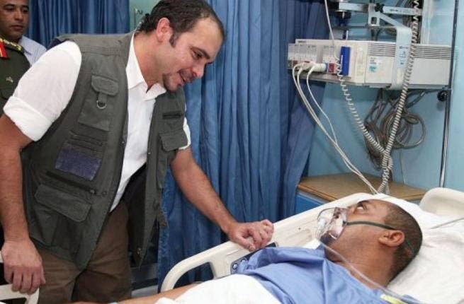 Wounded Jordanian