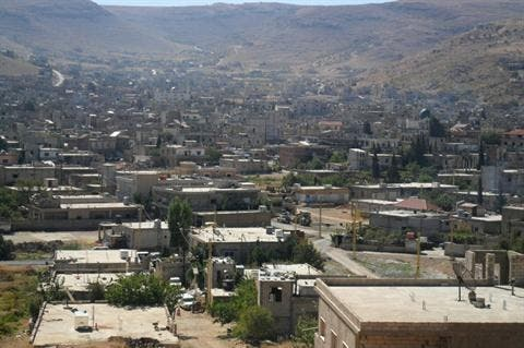 Arsal town was hit by Syrian fire on Wednesday according to witnesses (Daily Star photo)