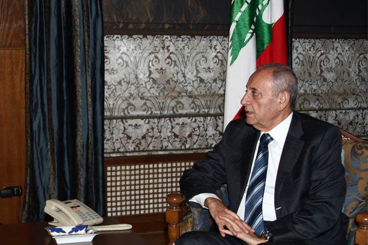 Lebanese Parliament Speaker Nabih Berri in Beirut, Lebanon