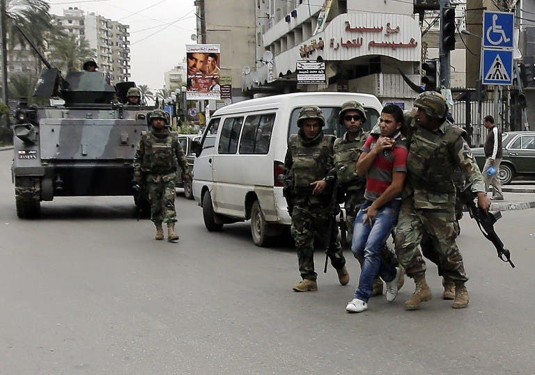 The Lebanese army was deployed on the streets of Tripoli last month (AFP Photo)