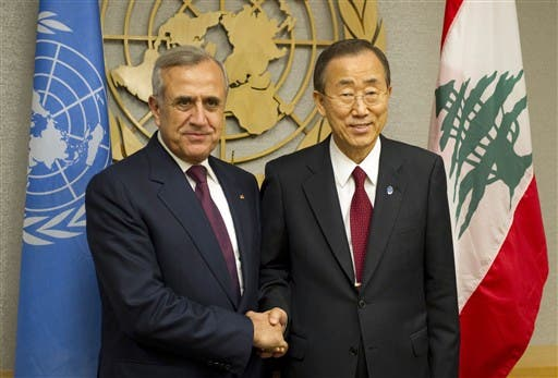 President Suleiman with UN chief