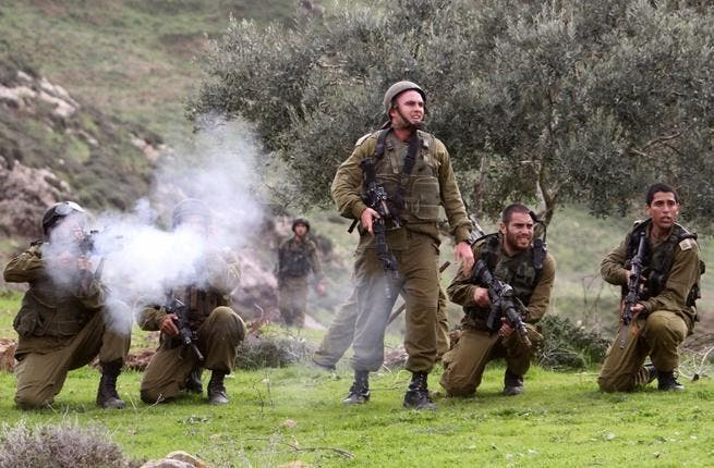The Israeli army: ready for further conflict.