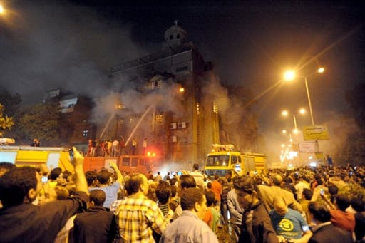 At least 10 people were killed during the overnight clashes in Cairo's Imbaba