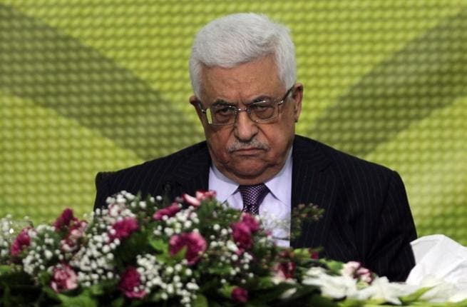 Palestinian Authority president Mahmoud Abbas attends a Fatah