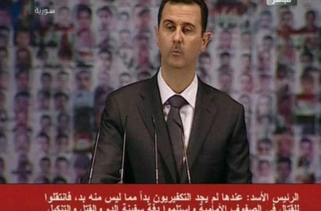 President Bashar al-Assad on Syrian state TV.