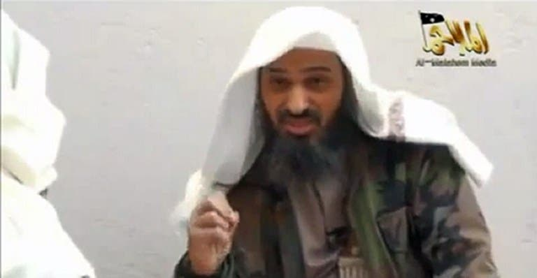 A screenshot taken from a video uploaded on YouTube on May 11, 2012, shows Saudi national Saeed al-Shehri, the co-founder and second-in-command of Al-Qaeda in the Arabian Peninsula. (AFP PHOTO / YOUTUBE)