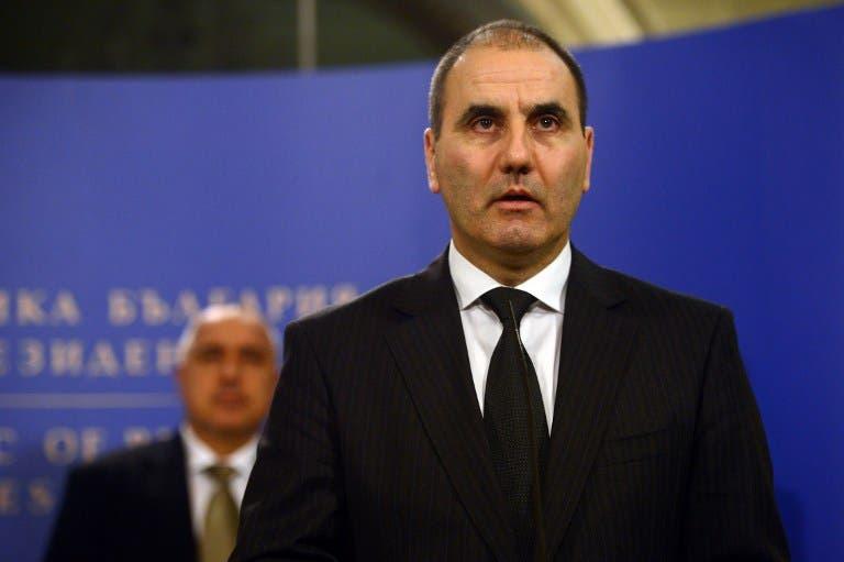 Bulgarian Interior Minister Tsvetan Tsvetanov speaks after a Bulgarian national security conference in Sofia. (AFP PHOTO / DIMITAR DILKOFF)