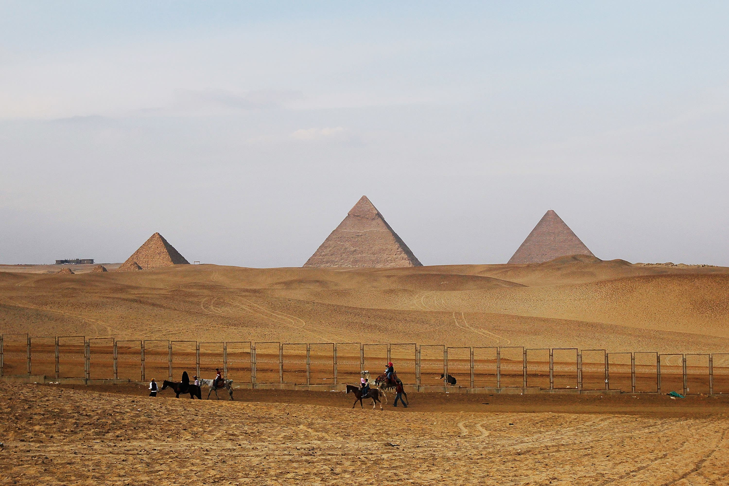 Desolate Pyramids: The revolt-- whether the tourist guides backed it or not-- has temporarily harmed their trade.