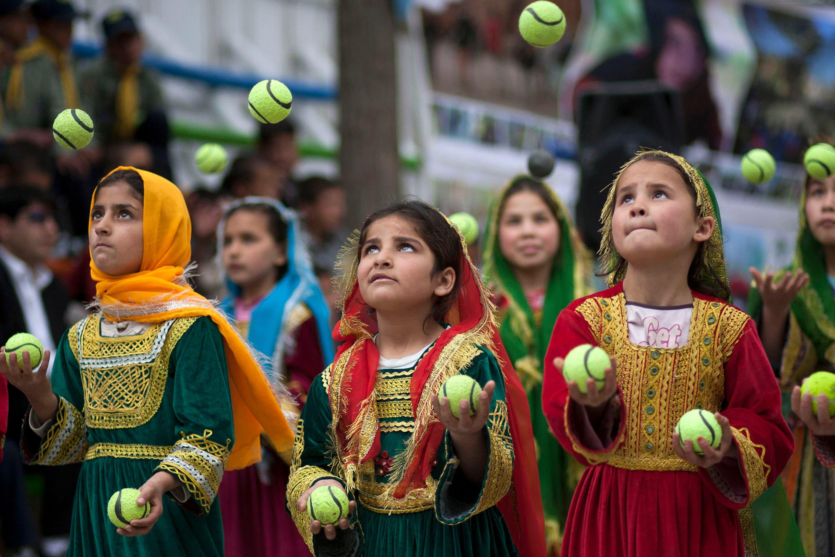 Children work a juggling act