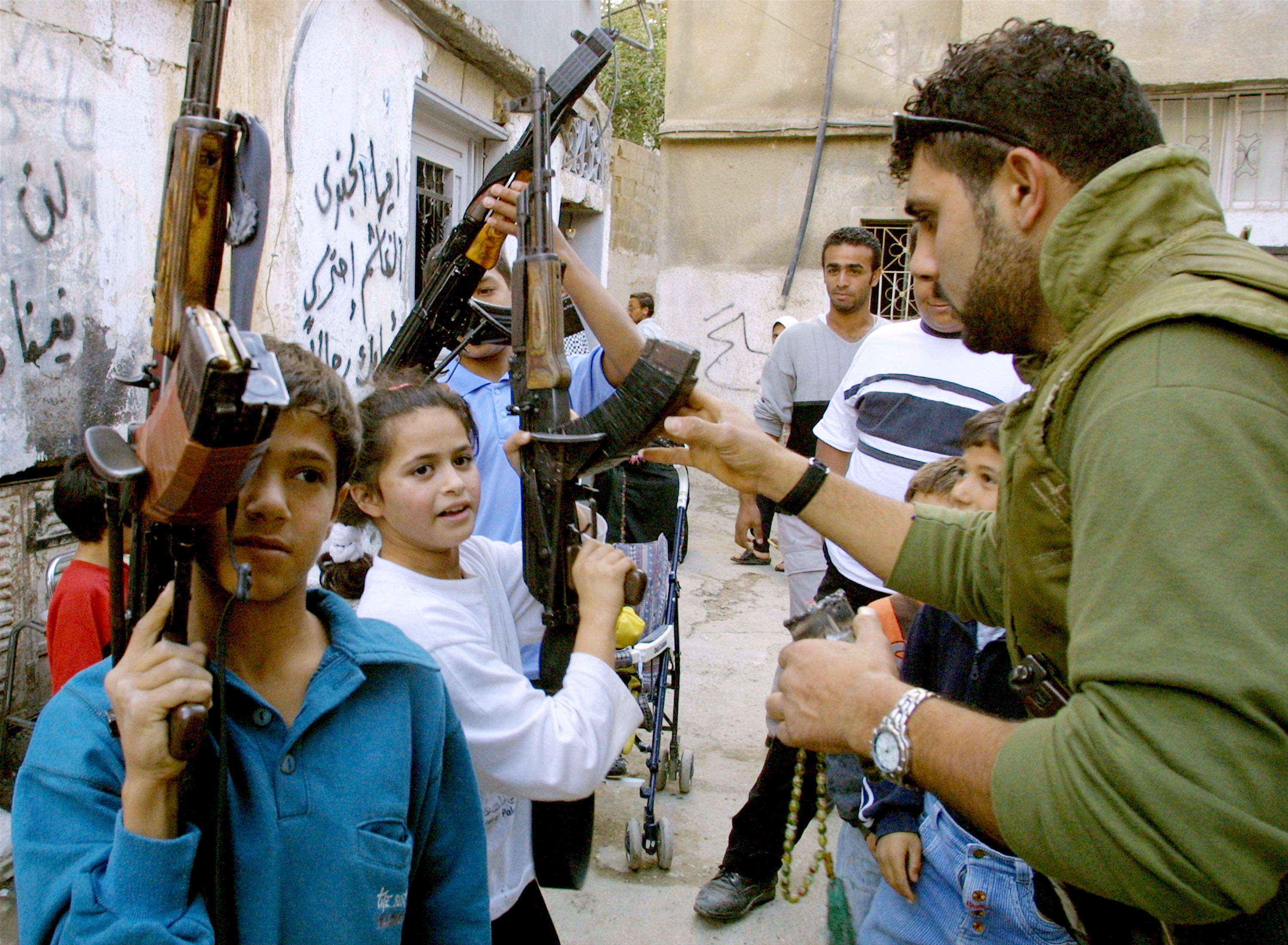Girls as young as seven are in the training centres where Gaddafi is training up teenage boys and girls to take up arms against the 'crusader' enemy