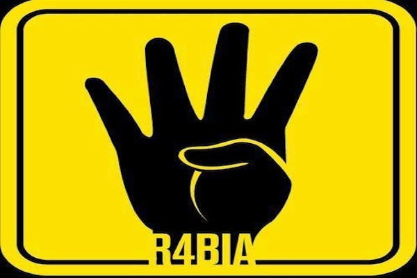 The Rabaa symbol that has been appropriated by those supporting Morsi in Egypt. (Facebook)
