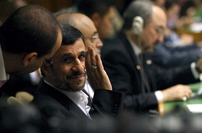 Iranian president, Mahmoud Ahmadinejad, at the UN General Assembly in September this year