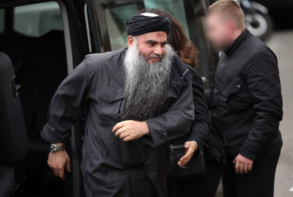 Abu Qatada on his release from prison in the UK last year.