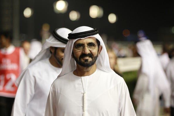 Sheikh Mohammed Al Maktoum looks on during Super Saturday at Meydan Racecourse on March 9, 2013 in Dubai, United Arab Emirates.