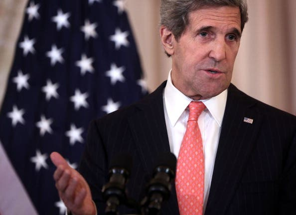 U.S. Secretary of State John Kerry speaks at the State Department (Photo by Alex Wong/Getty Images)