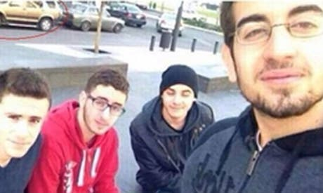 Mohammad Shaar, center, is seen in this selfie taken on Friday, Dec. 27, 2013, and circulated on social media websites. Shaar died after being severely wounded in the Friday, Dec. 27, 2013, car bombing that killed former Finance Minister Mohammad Shatah in Beirut. [The Daily Star]