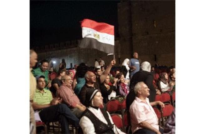 Audience at the 21st Citadel Festival for Music and Singing.