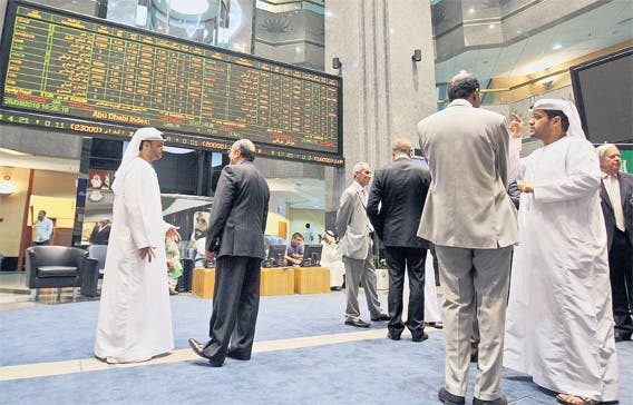 The Abu Dhabi measure was down 0.25 per cent to 3590.43.