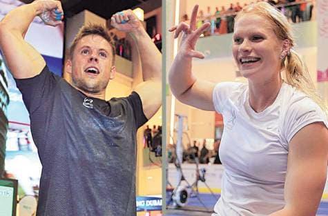 Frederik Aegidius of Denmark and Annie Thorisdottir from Iceland, who won the competition. (Image courtesy of Gulf News)