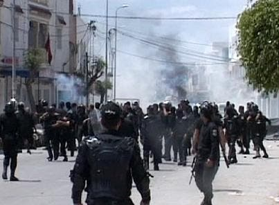 Wednesday's clashes between Tunisia's national guard and Islamist militants left nine dead (Courtesy of Euronews)