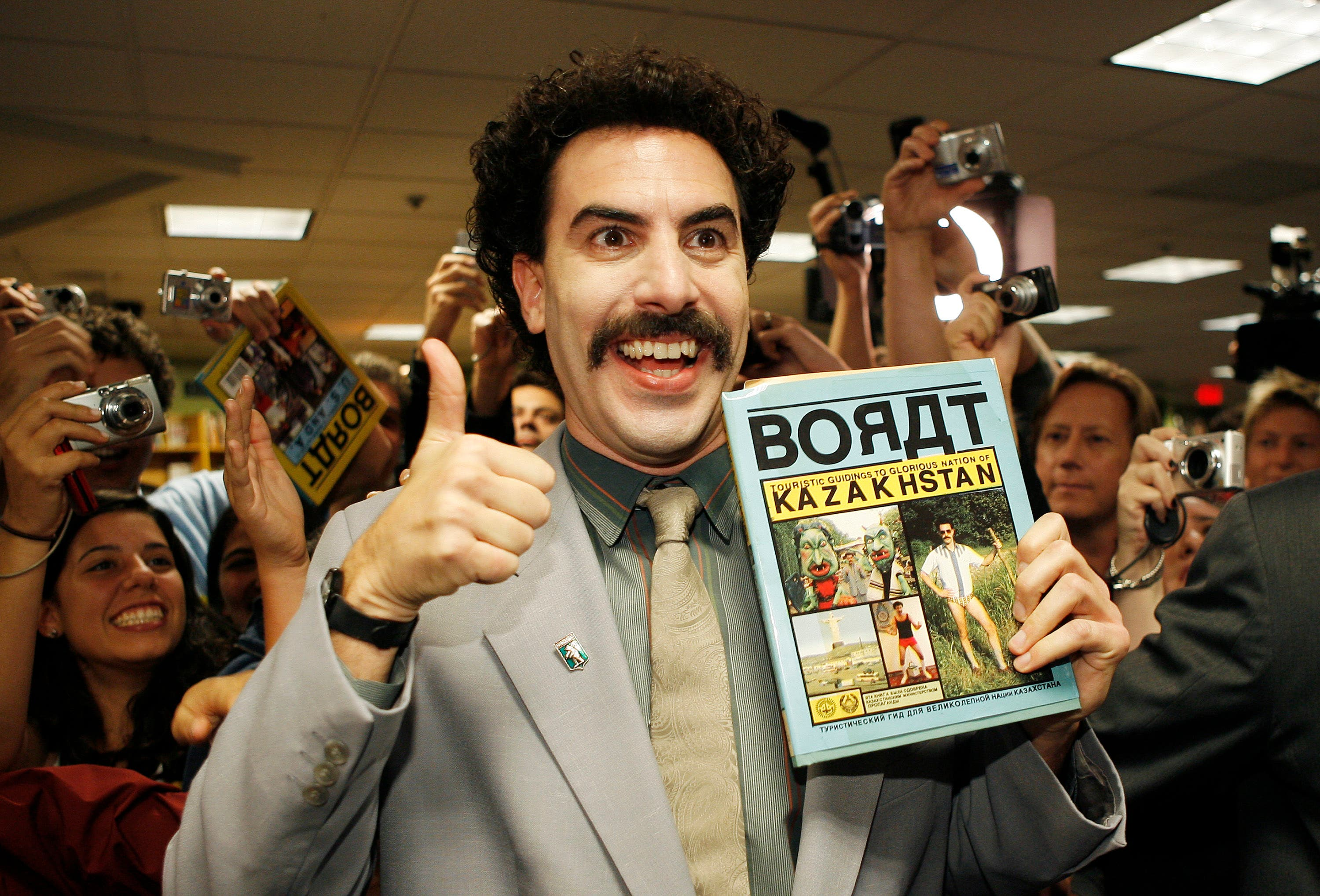 Sacha Baron Cohen- a class act April Fool artist; whose Star joker personnas include Ali G, Borat and more recently Bruno.