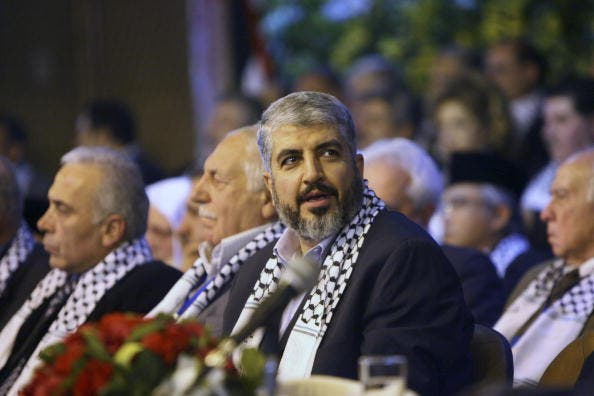 Hamas leader in exile, Khaled Meshaal.