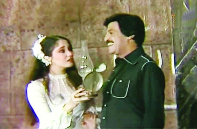 Scene from Al Motazawegoon with Samir Ghanem and Sherine.