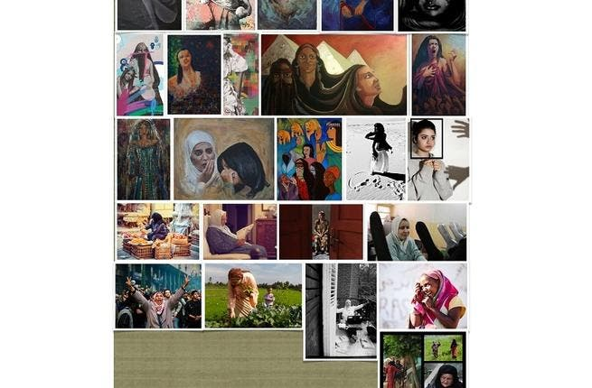 Collage of works from Women of Egypt. Courtesy of Marwa Morgan.