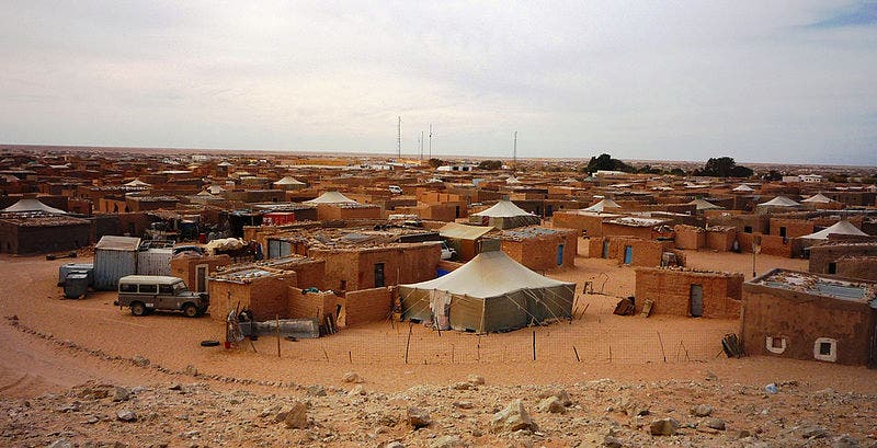 The Green March of 1975 displaced many Sahrawis from Western Sahara into Algerian refugee camps that are now considered some of the oldest and largest refugee camps in the world (Courtesy of Wikimedia)