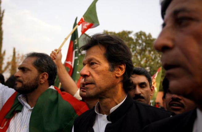 Imran Khan protests with lawyers in Islamabad