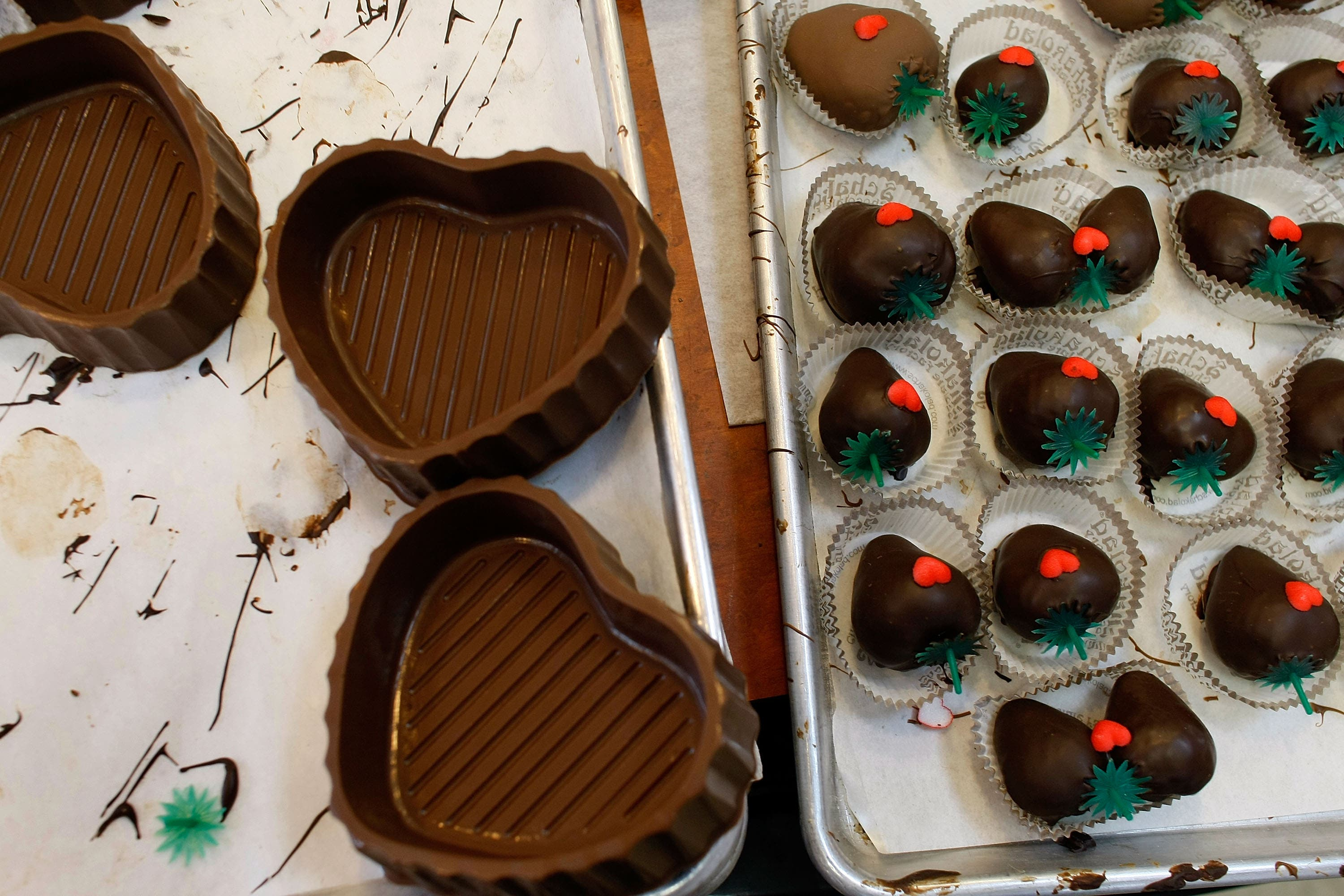 True, chocolate is the way to many a woman's heart, but it seems women now expect more creativity.