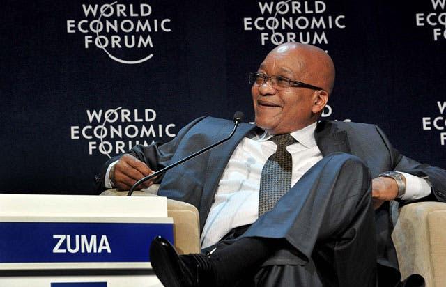 President Jacob Zuma addresseS the World Economic Forum plenary session on BRICS. (Photo: GCIS)