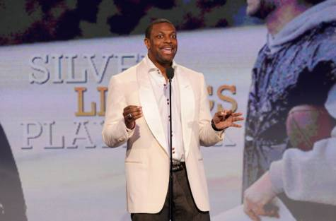 Actor Chris Tucker speaks onstage at the Independent Spirit Awards on Saturday, Feb. 23, 2013, in Santa Monica, Calif.
