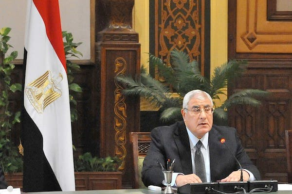 Secularists will come head to head with ultraconservative Islamist groups during the creation of the final draft of Egypt's constitution. Egypt's interim president Adly Mansour was handed the latest constitutional amendments on Monday. (AFP)