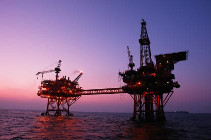 Offshore drilling site