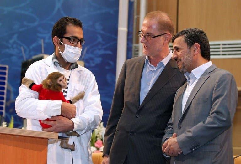 Monkey envy: Ahmadinejad is reportedly keen to follow Pishgam into orbit