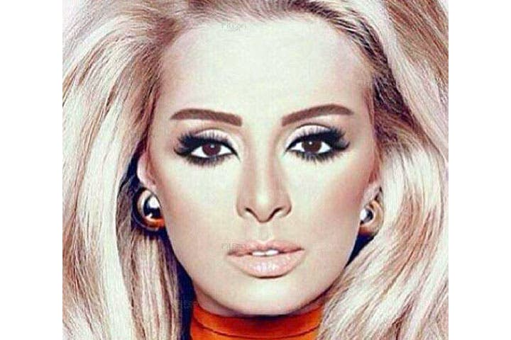 The picture of a blonde Angham creating a buzz amongst her fans. (Image: Facebook)