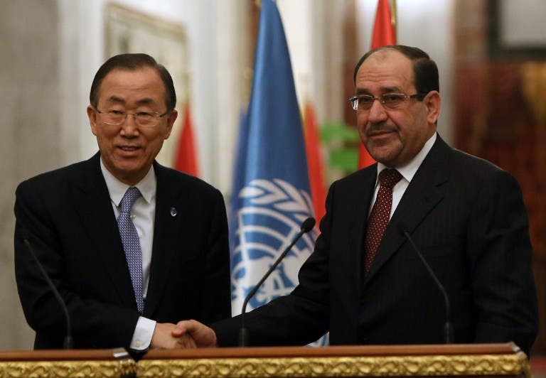 Iraq's leader Al Maliki rejected Ban's calls for dialogue, saying: