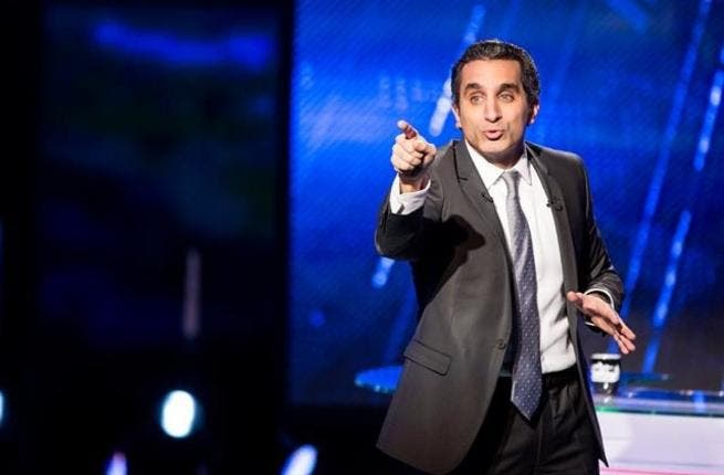 Egyptian comedian Bassem Youssef has been causing waves since his return to TV on Friday - one disgruntled journalist Farida Shobashi, who accused Bassem of thinking with his penis! (AFP/File)