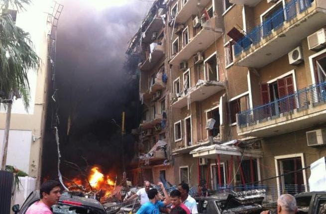 Beirut's car-bombing by Sassine Sq., Achrafieh