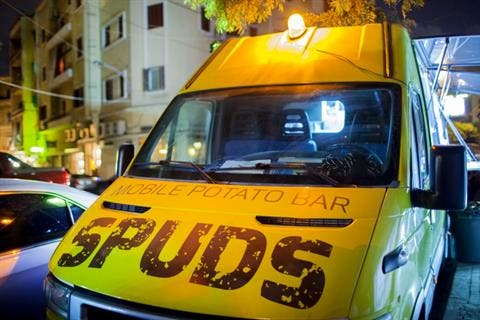 Spuds, the mobile potato bar launched in Beirut for chip aficionados.