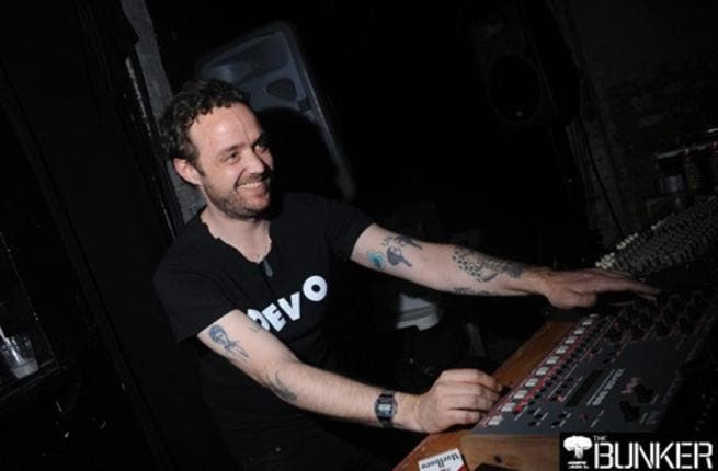 Bruno Pronsato hits the decks (picture courtesy of Infernal Techno).