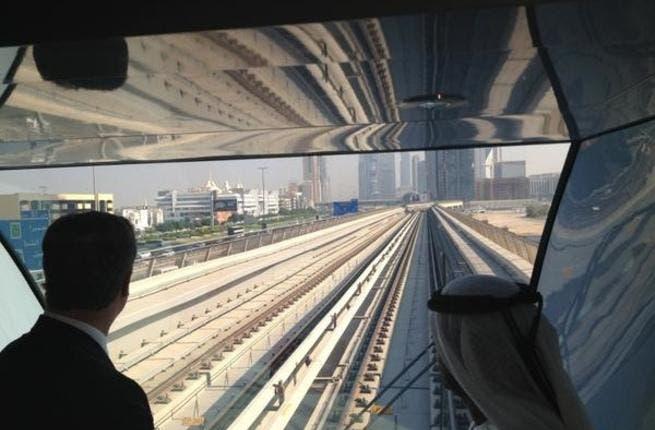 The British PM rides the newly built Dubai metro