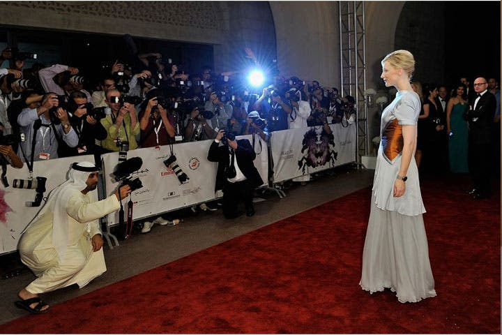 Cate Blanchett arrives at the Dubai International Film Festival 2012. (Image: Facebook)