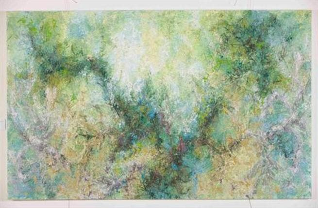 Charbel Samuel Aoun, Lost Spring I, mixed media on canvas, 150 x 244 cm, 2012All images courtesy of SMO Gallery