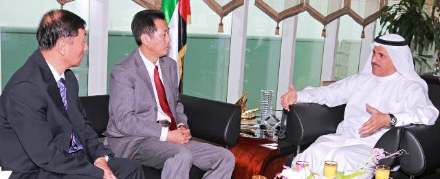 UAE Minister of Economics during his meeting with the Chinese Ambassador
