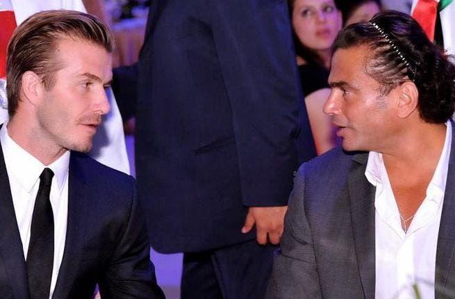 David Beckham and Amr Diab talk headbands