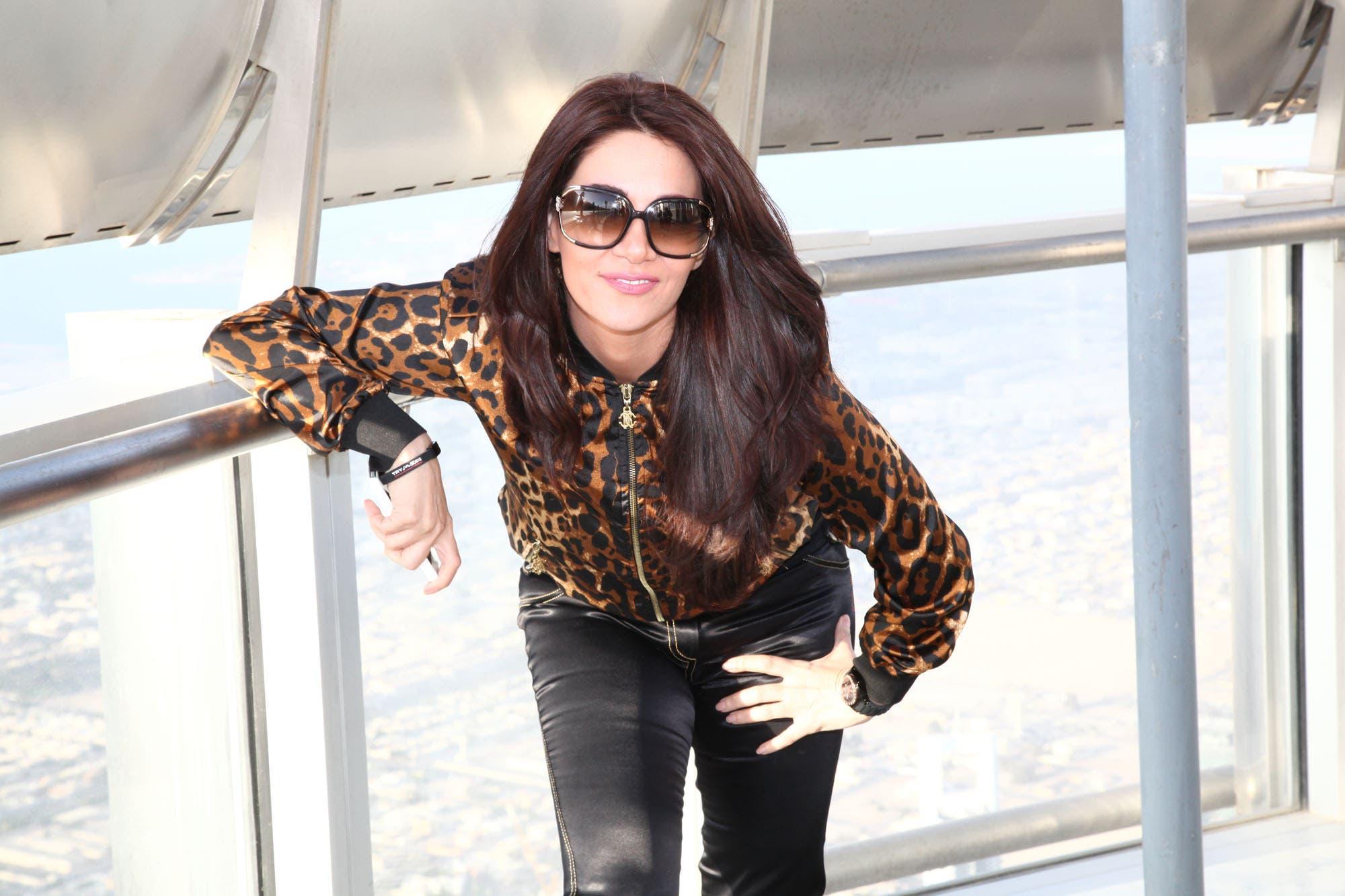 Diana Haddad breaks records at Dubai's Burj Khalifa crest, 164th floor