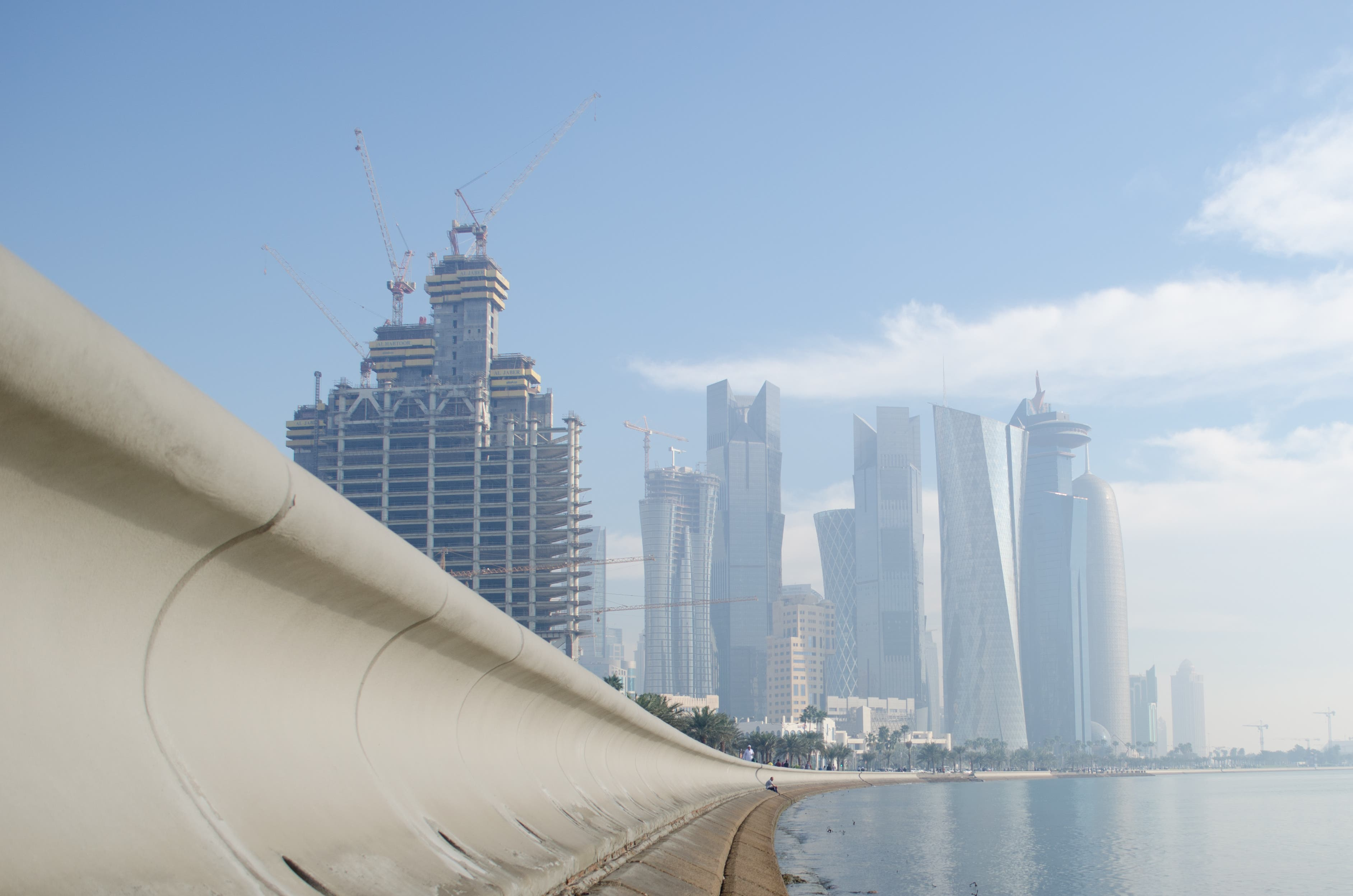 Activity in Qatar's construction sector soared 19.6 per cent from a year ago in January-March, faster than a 13.6 per cent rise in the whole last year,