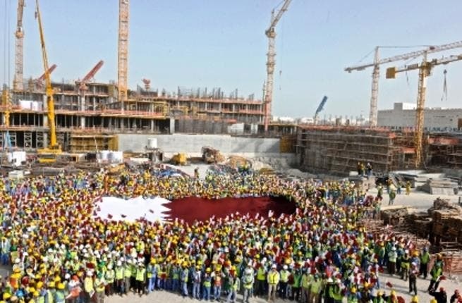 Qatar has raised its growth forecast as infrastructure projects gain speed